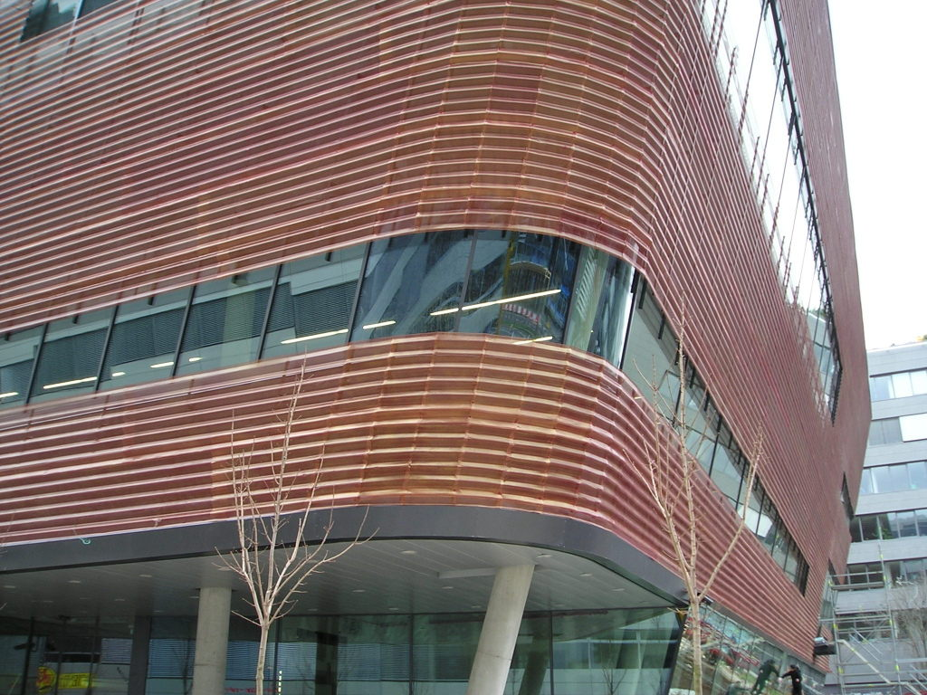 facade profiles, perforation